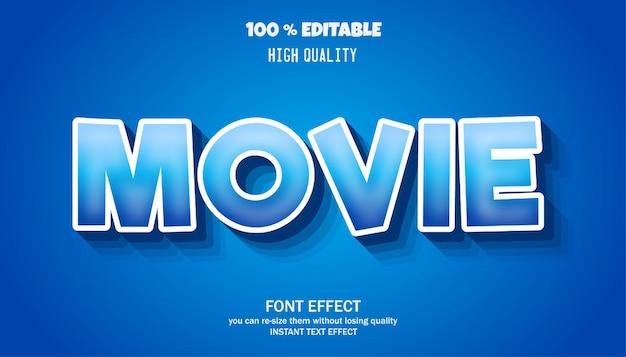 Style d'effet de texte modifiable de film