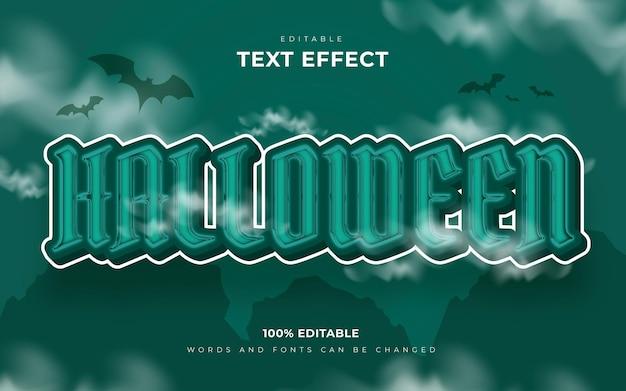 Style d'effet de texte modifiable joyeux halloween et effrayant