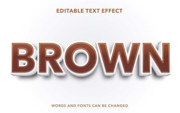 Style d'effet de texte modifiable marron