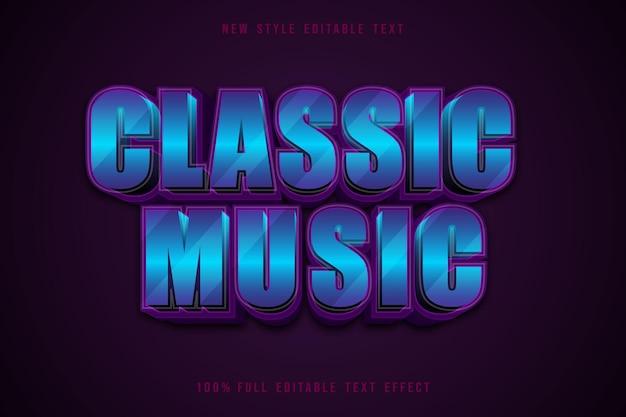 Style d'effet de texte modifiable de musique classique bleu