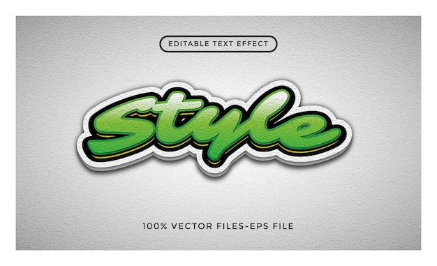 Style - effet de texte modifiable par l'illustrateur vecteur premium