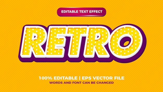 Style d'effet de texte modifiable rétro pop art pour le style ancien