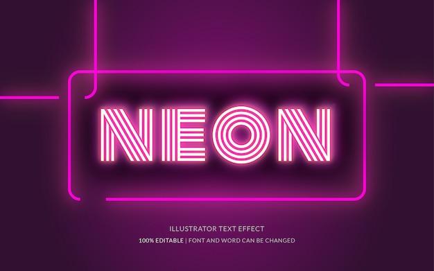 Style d'effet de texte neon
