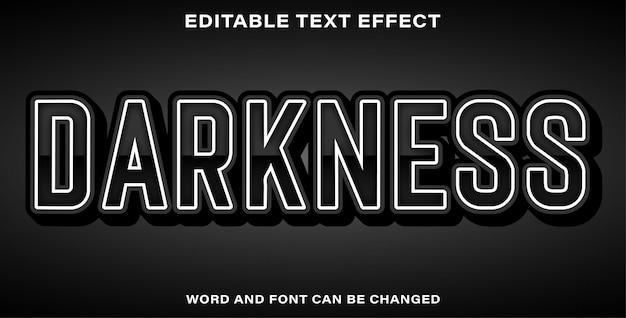 Style D'effet De Texte D'obscurité Vecteur Premium