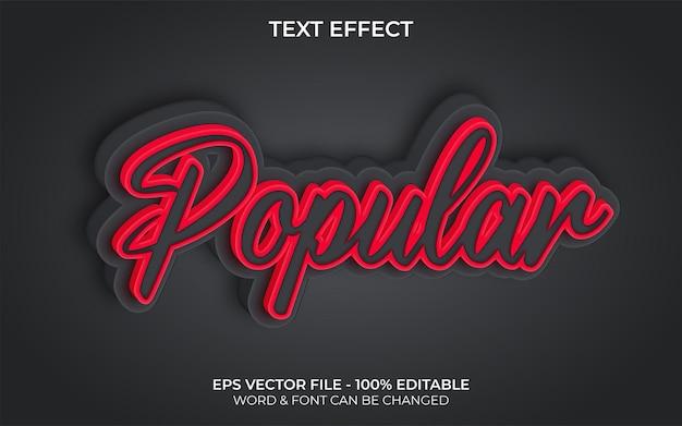 Style d'effet de texte populaire effet de texte modifiable