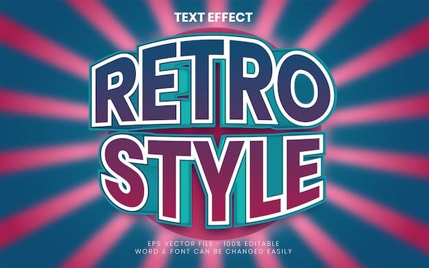 Style d'effet de texte rétro effet de texte modifiable
