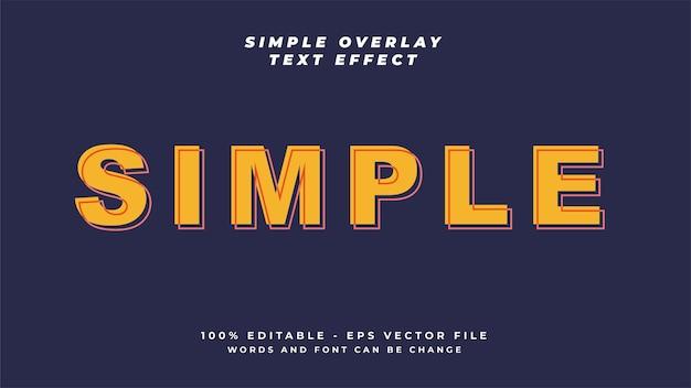 Style d'effet de texte simple et minimaliste dans le modèle d'arrière-plan sombre