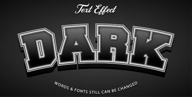 Style d'effet de texte sombre