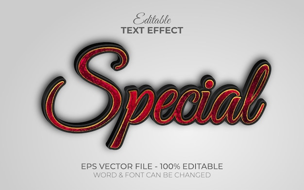 Style d'effet de texte spécial effet de texte modifiable or eux