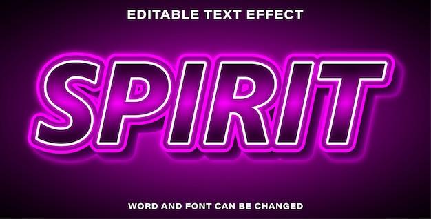Style d'effet de texte spirit