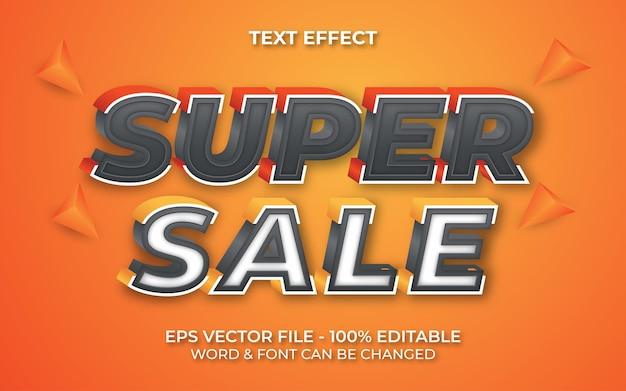 Style d'effet de texte de super vente thème de vente d'effet de texte modifiable