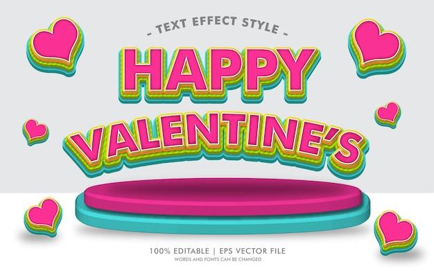 Style des effets de texte de happy valentine