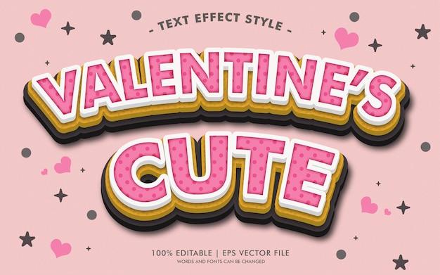 Style des effets de texte mignon de saint-valentin