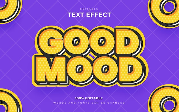 Style d'effets de texte modifiable rétro de bonne humeur