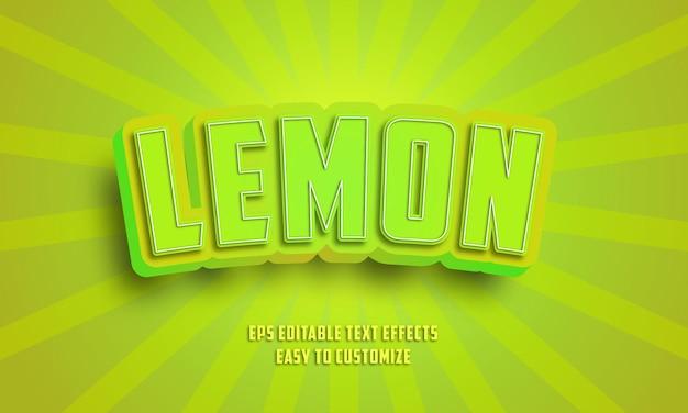Style d'effets de texte modifiable vert 3d