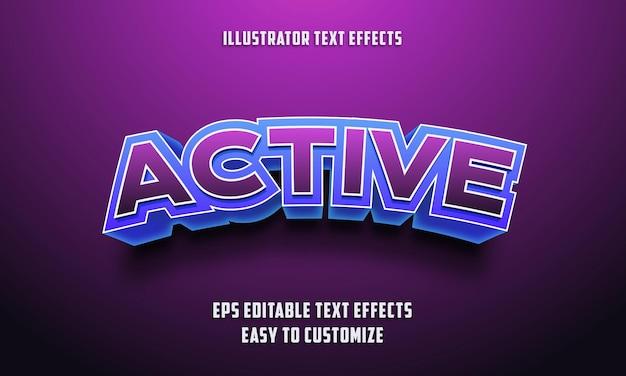 Style d'effets de texte modifiables 3d