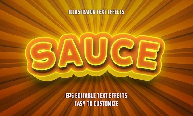 Style d'effets de texte modifiables sauce