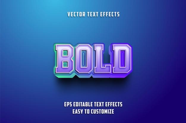 Style d'effets de texte modifiables