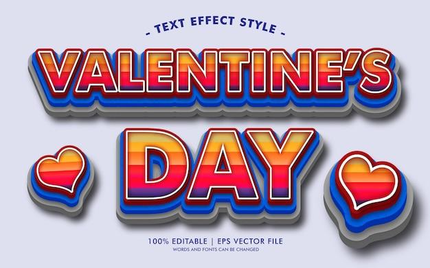 Style des effets de texte de la saint-valentin