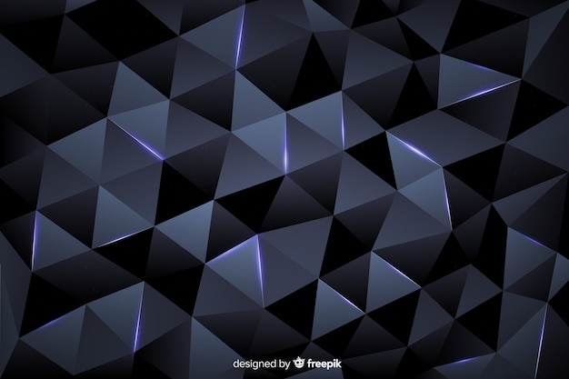 Style élégant de fond polygonale sombre