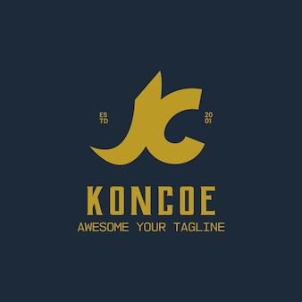 Style élégant de logo vintage lettre k