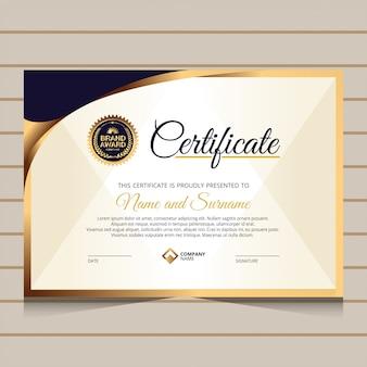 Style élégant pour le modèle de certificat