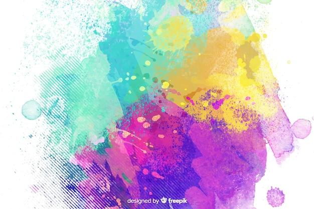 Style enfantin de fond de couleurs mélangées