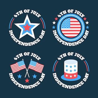 Style d'étiquettes de la fête de l'indépendance