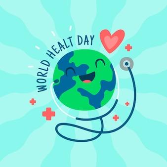 Style d'événement de la journée mondiale de la santé