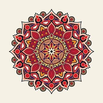 Style fleuri de fond coloré de mandala