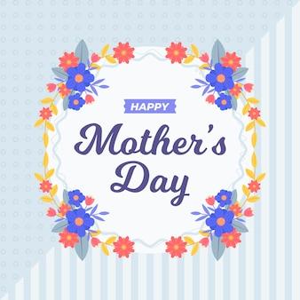 Style floral de la fête des mères