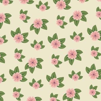 Style floral mignon avec des feuilles
