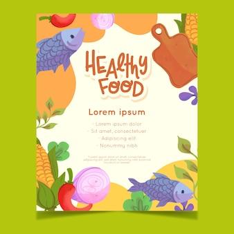 Style de flyer de nourriture saine