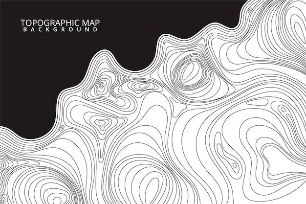 Style de fond de carte topographique