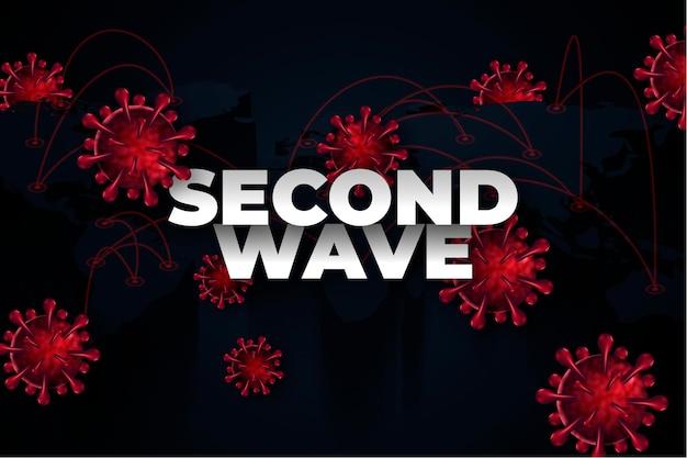 Style de fond de deuxième vague de coronavirus