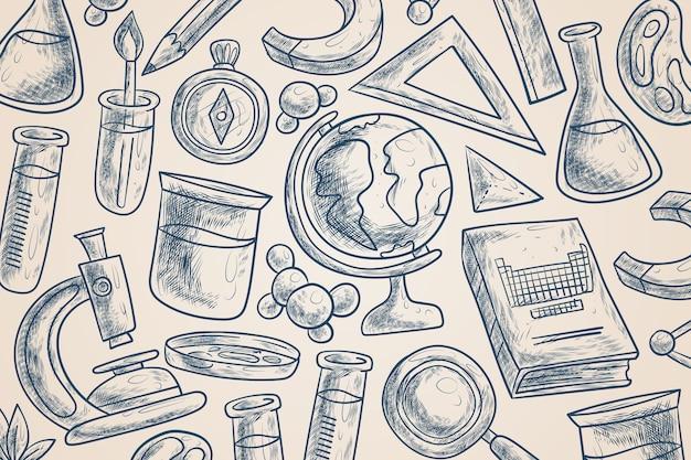 Style de fond de l'éducation scientifique vintage
