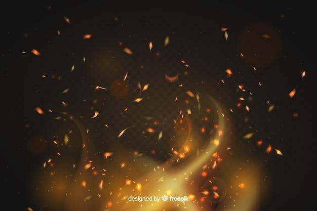 Style de fond d'effet étincelles de feu