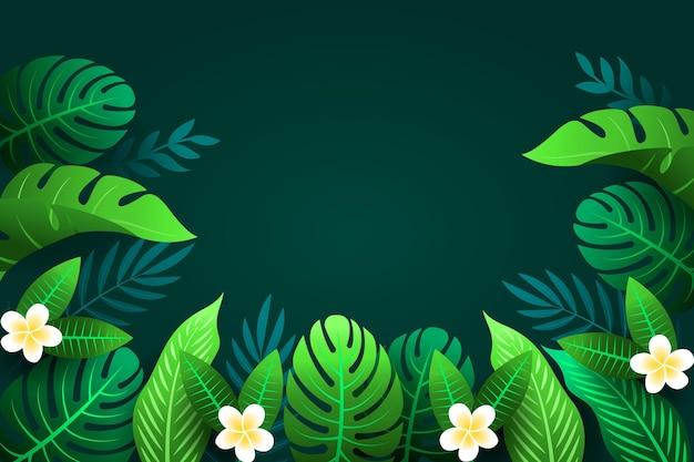 Style de fond de feuilles tropicales
