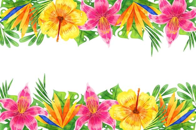 Style de fond floral aquarelle