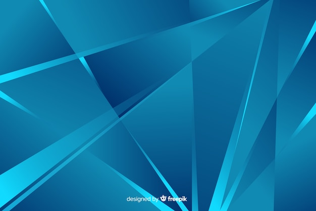 Style de fond des formes bleues abstraites