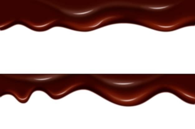 Style de fond de garniture au chocolat