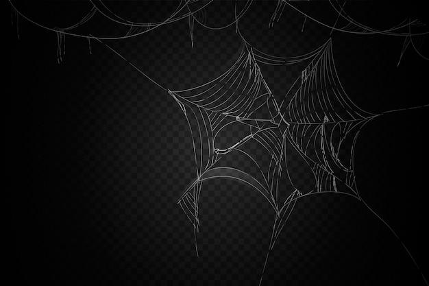 Style de fond de toile d'araignée halloween
