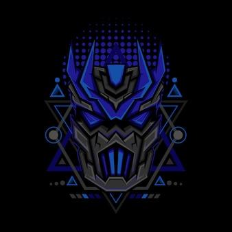 Style de géométrie maks bleu foncé