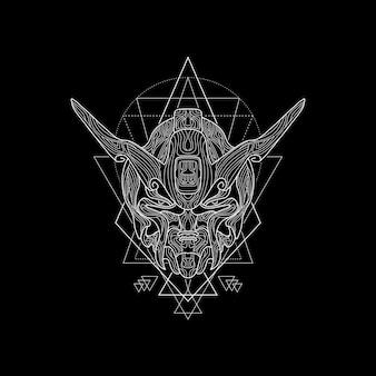 Style de géométrie sacrée du robot démon