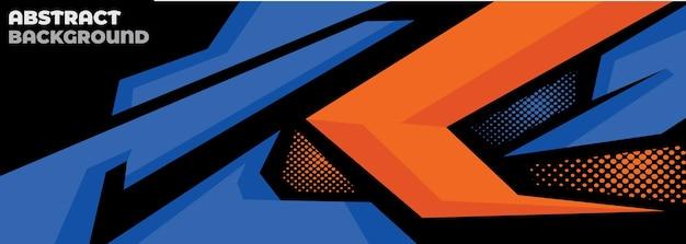 Style géométrique abstrait de décalque de voiture de sport