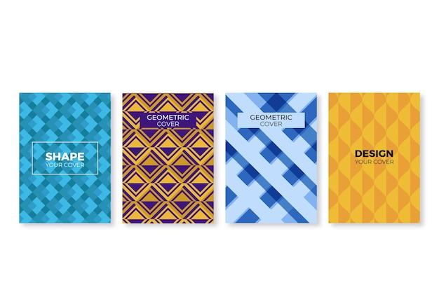 Style géométrique abstrait pour la collection de couvertures