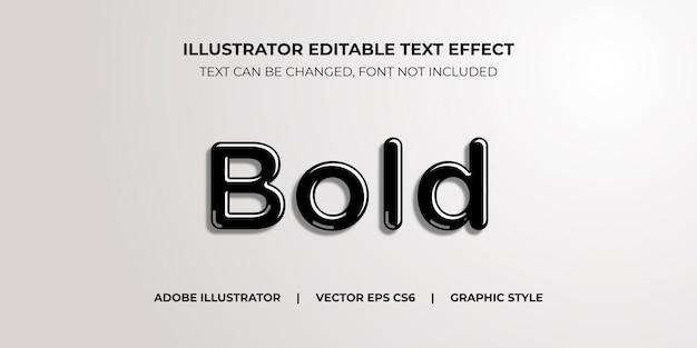 Style graphique d'illustrateur d'effet de texte vectoriel bold ink