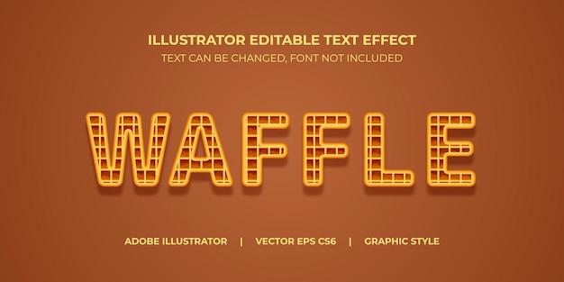 Style graphique d'illustrateur d'effet de texte vectoriel