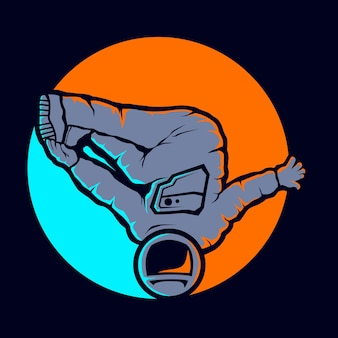 Style hip hop astronaute mignon