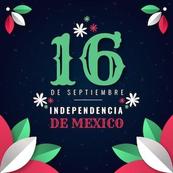 Style d'illustration de la fête de l'indépendance du mexique